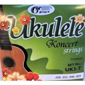 Gorstrings UK3-T koncert struny na Ukulele