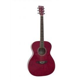 Dimavery AW-303 kytara typu western, červená