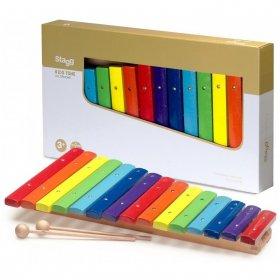 Stagg XYLO-J15 RB, xylofon, 15 barevných kamenů