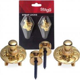 Stagg SSL1 GD Zámek kytarového řemenu