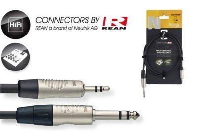 Stagg NAC3MPSPSR velký 6,3 st na malý 3,5 st konektor 3 m
