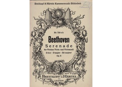 Beethoven L.van: Serenáda op.8 pro housle,violu a vcello