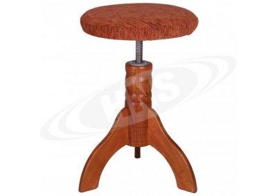 HNS Klavírní židle Třešeň sedák textil 3 nohy