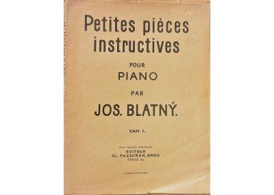 Blatný Josef: Petite pieces instructives pour piano - cah. I.