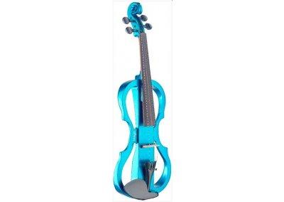 Stagg EVN X-4/4 MBL, elektrické housle, modrá metalíza