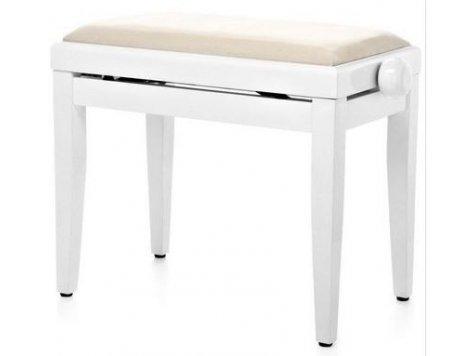 Proline klavírní stolička bílá