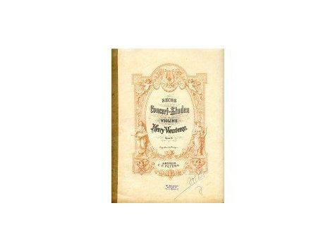 Vieuxtemps Henry: 6 koncertních etud op.16 pro housle
