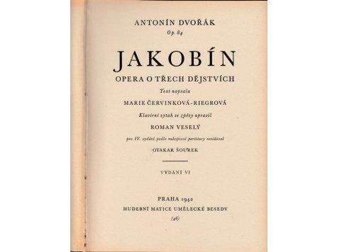 DVOŘÁK Antonín: Jakobín-opera op.84