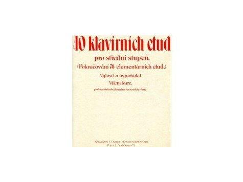 Kurz Vilém: 40 klavírních etud
