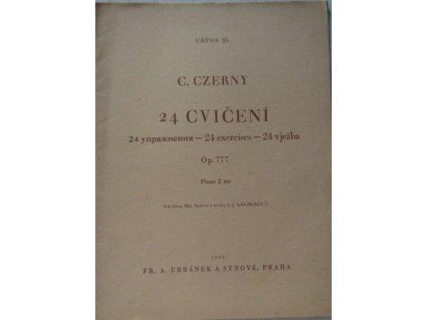 Czerny Carl: 24 cvičení op.777