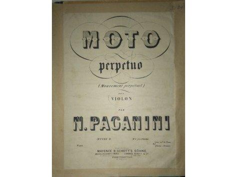 Paganini Nicolo: Moto perpetuo -op.posth. 6