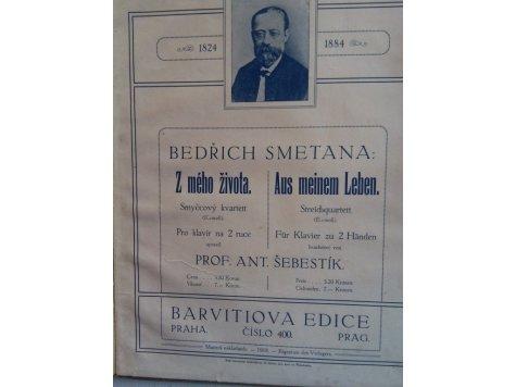 Smetana Bedřich: Z mého života - úprava kvartetu e-moll