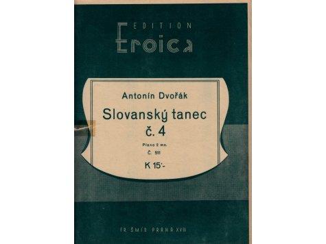 Dvořák Antonín: Slovanský tanec č.4/2.exemplář