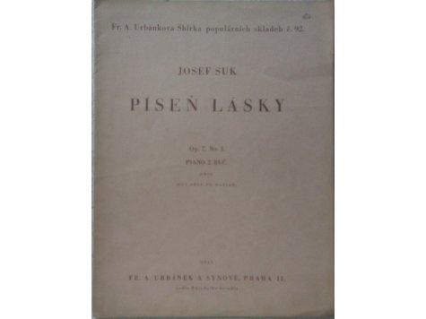 Suk Josef: Píseň lásky op.7, č.1 orig.