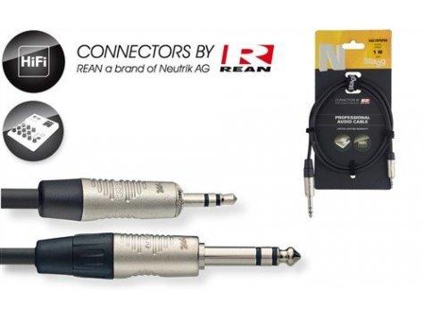 Stagg NAC2MPSPSR velký 6,3 st na malý 3,5 st konektor 2 m