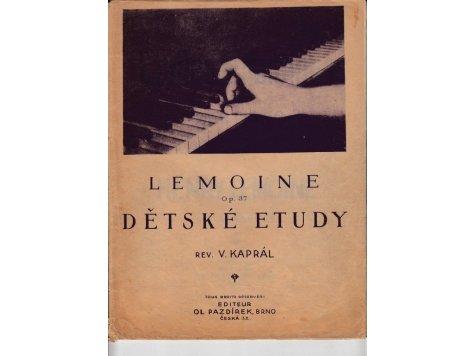 Lemoine Henry: Dětské etudy op.37