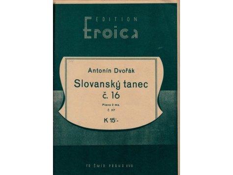 Dvořák Antonín: Slovanský tanec č.16/2 exemplář