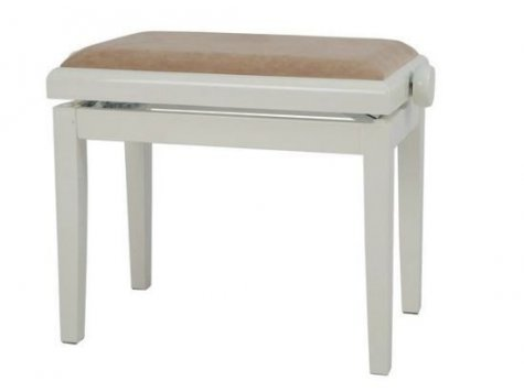 GEWA Piano stolička Deluxe slonovina - vysoký lesk