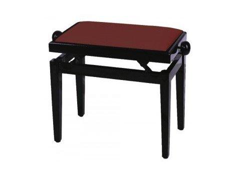 FX Lavička pro piano Mahagon vysoký lesk bordeaux sedadlo