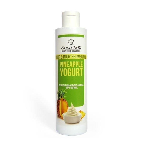 Naturalny żel pod prysznic do ciała i włosów jogurt ananasowy 250 ml