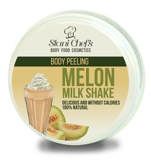 Prírodný telový peeling melónovy mliečny šejk na báze morské soli 250 ml