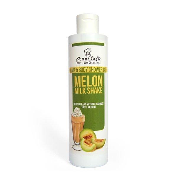 Natürliches Duschgel für Haut und Haar Melonen-Milchshake 250 ml