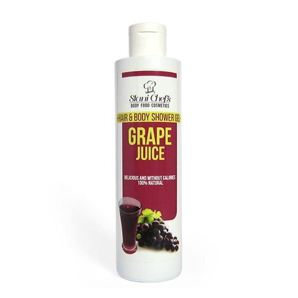 Naturalny żel pod prysznic do ciała i włosów sok winogronowy 250 ml