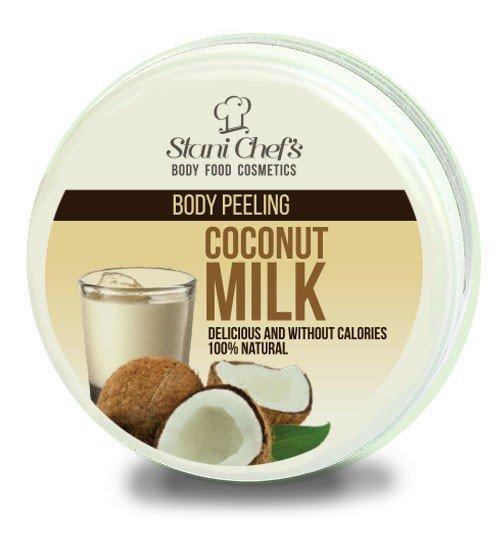 Přírodní tělový peeling kokosové mléko na bázi mořské soli 250 ml
