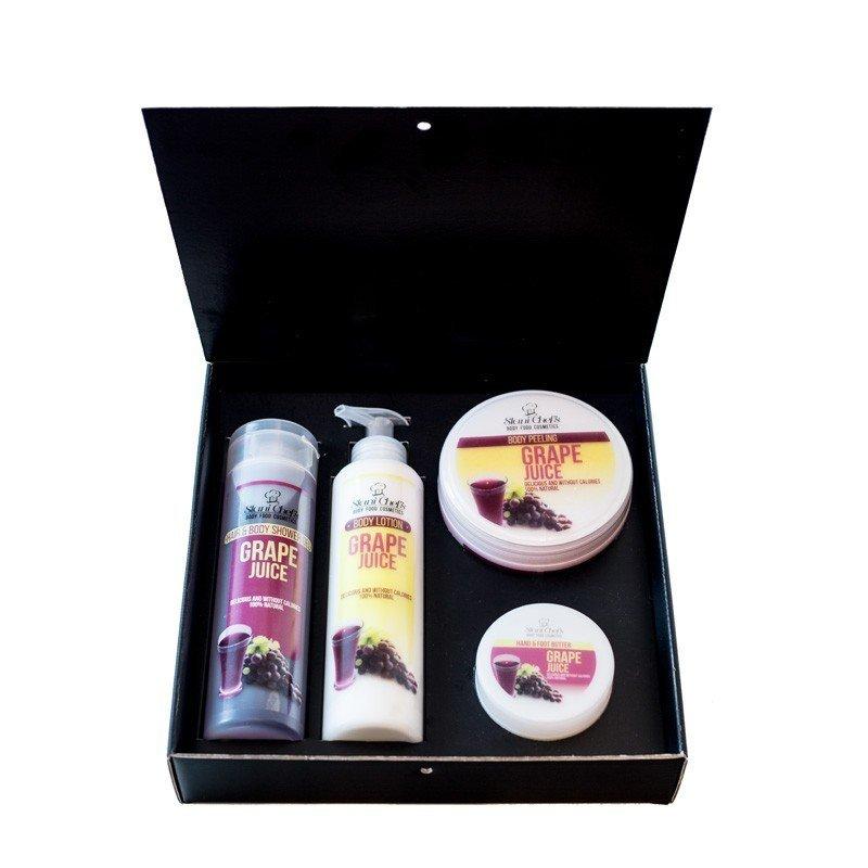Zestaw naturalnych kosmetyków o zapachu soczku winogronowego 850 ml