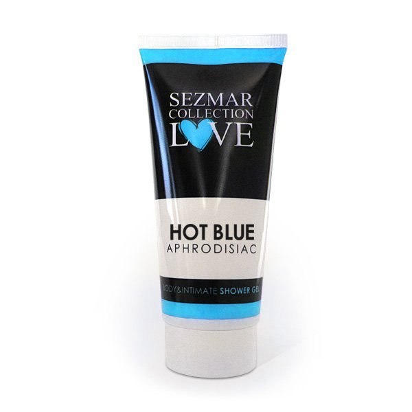 Naturalny żel pod prysznic do ciała oraz miejsc intymnych z afrodyzjakami hot blue 200 ml