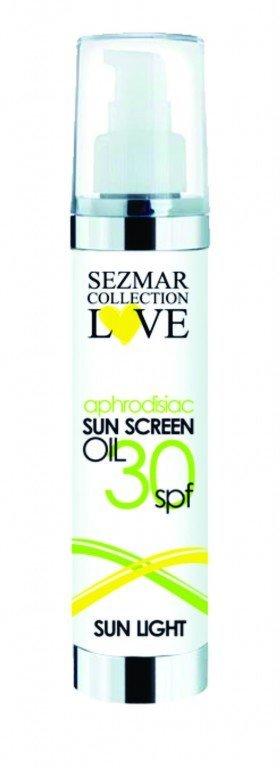 Přírodní olej na opalování s afrodiziaky 30 spf 100 ml
