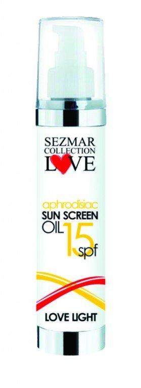 Prírodný olej na opaľovanie s afrodiziakami 15 spf 100 ml
