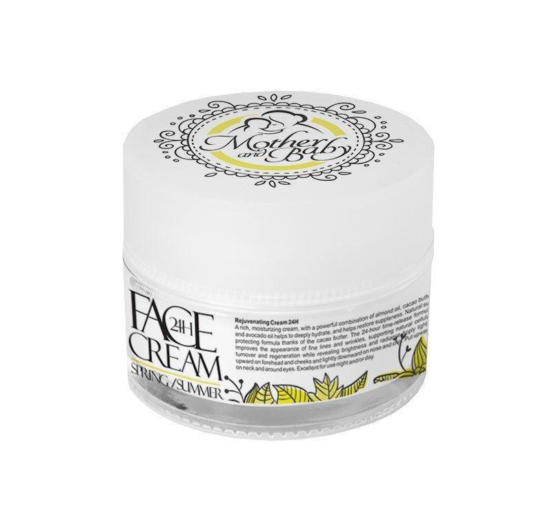 Přírodní krém na obličej 24h jaro - léto pro maminky 50 ml