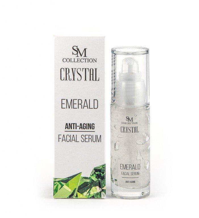 Přírodní obličejové gel sérum smaragd anti-aging 30 ml