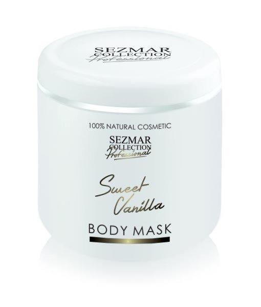 Přírodní maska na tělo a obličej sladká vanilka 500 ml