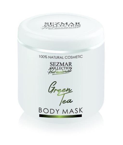 Natürliche Gesichts- und Körpermaske grüner Tee – 500 ml