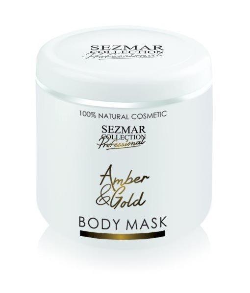 Natürliche Gesichts- und Körpermaske Bernstein und Gold – 500 ml
