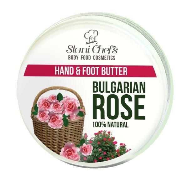 Natürliche Hand- und Fußcreme bulgarische Rose 100 ml