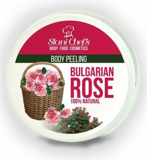 Natürliches Körperpeeling bulgarische Rose auf Meersalzbasis 250 ml