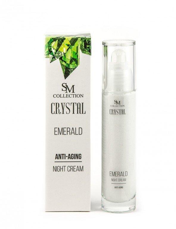 Prírodný nočný krém smaragd anti-aging 50 ml