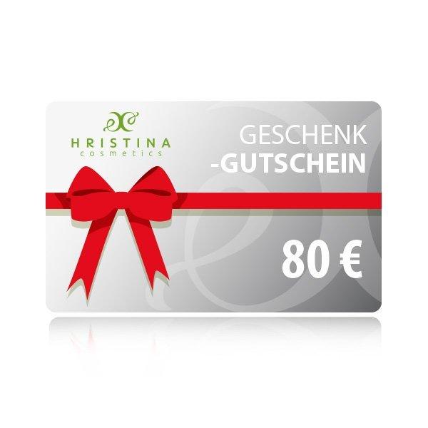 Elektronischer Geschenkschein 80 €