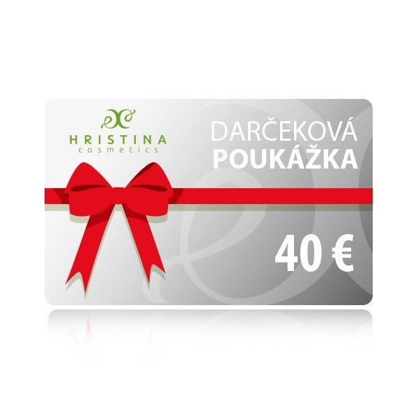 Elektronická darčeková poukážka 40 €