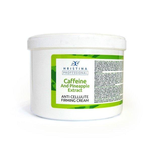 Přírodní anticelulitidní zpevňující krém s kofeinem a výtažkem z ananasu 500 ml