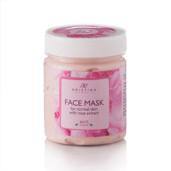 Přírodní maska na obličej s extraktem z růží 200 ml