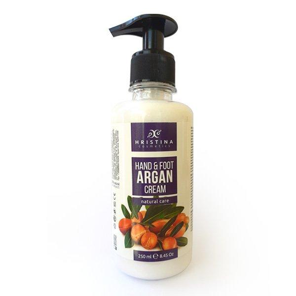 Natürliche Hand- und Fußcreme mit Arganöl 250 ml