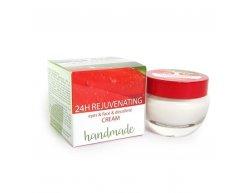 Natürliche handgemachte verjüngende 24-Stunden-Creme Augen & Gesicht & Dekolleté limitierte Edition 50 ml