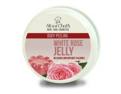 Natürliches Körperpeeling Gelee aus weißer Rose auf Meersalzbasis 250 ml