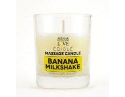 Přírodní masážní svíčka banán 100 ml