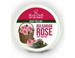 Přírodní tělový peeling bulharská růže na bázi mořské soli 250 ml