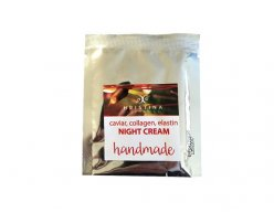 Naturalny ręcznie produkowany krem na noc z kawiorem, kolagenem i elastyną 5 ml